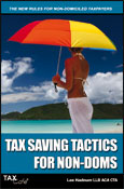 Surrey and Berkshire Tax Advice - Guides and Books from Tax Cafe  - Tax Saving Tactics for Non-Doms
